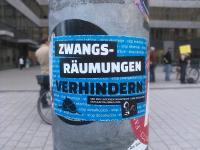 Interventionistische Linke Düsseldorf [see red!] Protest gegen Zwangsräumung